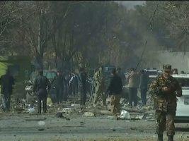 Explosión de una ambulancia bomba en el centro de Kabul