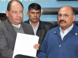 Ministro de Gobierno y presidente del Colegio Medico de Bolivia