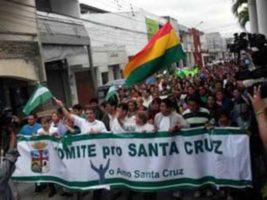 Marcha del Comité Cívico de Santa Cruz