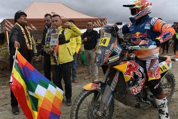 Evo larga séptima etapa del Dakar 2018