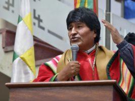 Evo Morales ingresa a la Asamblea Legislativa Plurinacional