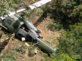 Un helicóptero militar cayó a tierra en Colombia y sus diez ocupantes murieron