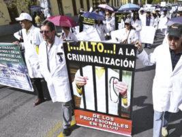 Protestas de medicos en Bolivia