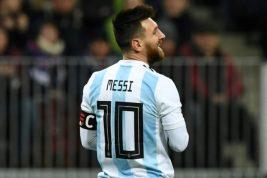 Lionel Messi del Barcelona de España
