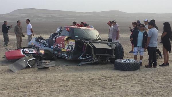 Impactante accidente de Bryce Menzies en el Dakar