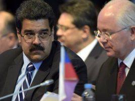 Presidente de Venezuela junto al ex embajador venezolano ante la ONU