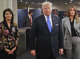 La embajadora ante la ONU, el presidente de EEUU y la primera dama