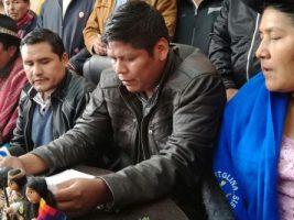 """Agrupa a la CSUTCB, las """"Bartolinas"""", los interculturales, Conamaq y Cidob"""
