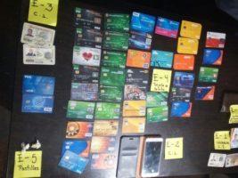 Evidencia del robo de tarjetas de crédito y debito