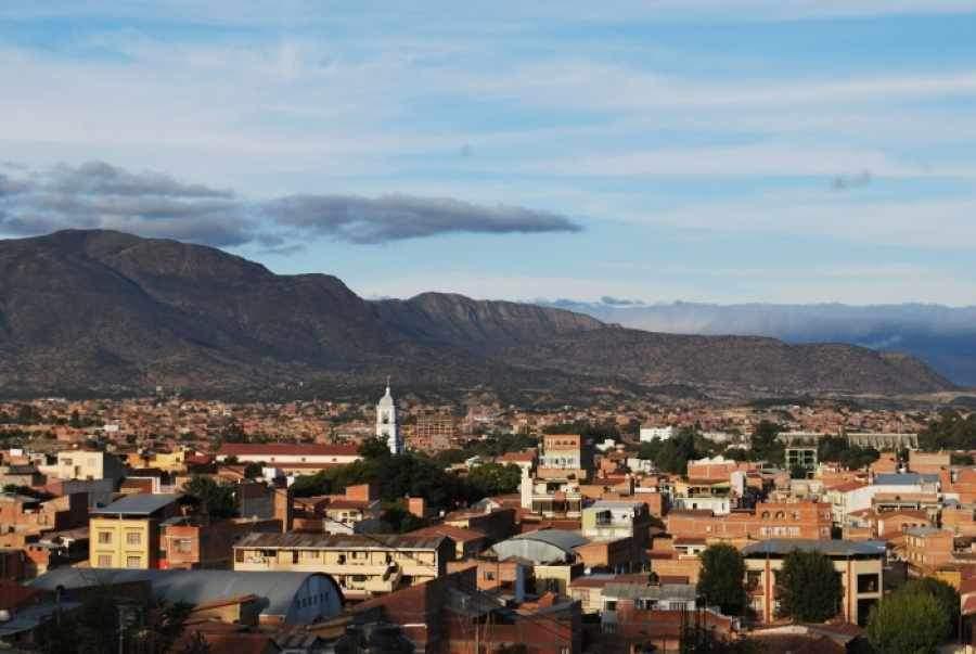 Panorámica del centro de la ciudad de Tarija