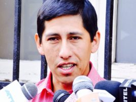 El asambleísta departamental del MAS en Tarija Abel Guzman