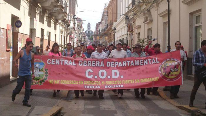 COD de Tarija pide al Gobierno que el doble aguinaldo se pague en diciembre
