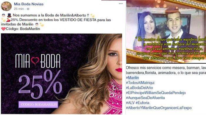 Descuentos, peticiones de trabajo... aumenta la locura por la boda de Marilin y Alberto en Tarija