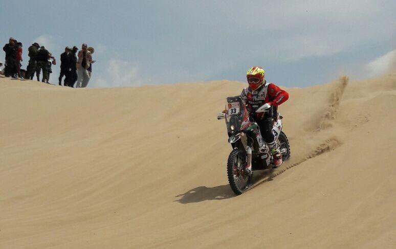 Daniel Nosiglia el mejor boliviano clasificado en la primera etapa del Dakar 2018