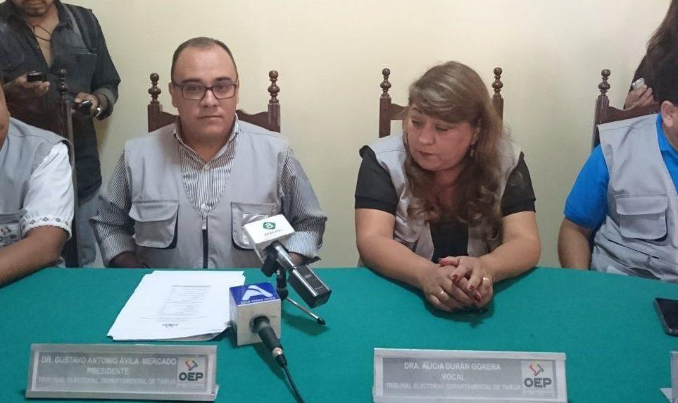 El TED entrega más de 7.000 certificados de impedimento en Tarija