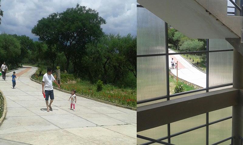 Visitantes lamentan falta de bancas y deterioro en el Bioparque Urbano de Tarija