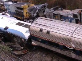 Choque de trenes que viajaban de Nueva York a Miami