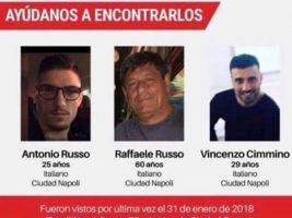 Los ciudadanos italianos, Antonio Russo, Raffaele Russo y Vincezo Cimmino fueron vistos por última vez en la ciudad de Tecalitlán, estado de Jalisco.