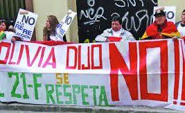 Residentes bolivianos en Madrid iniciaron hoy las manifestaciones./Foto: Archivo EjuTv