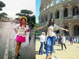 Barbara Jaime una tarijeña en Roma