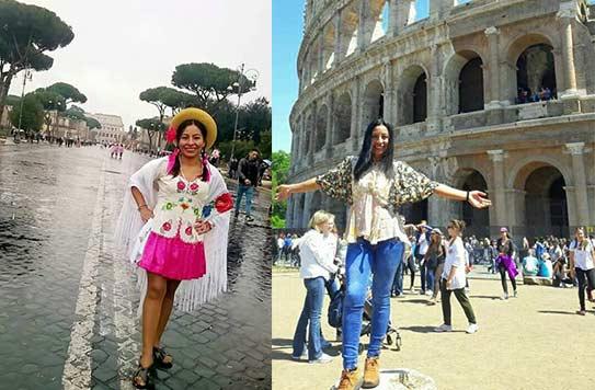 Bárbara Acuña, la tarijeña que muestra la cultura del sur de Bolivia en Roma