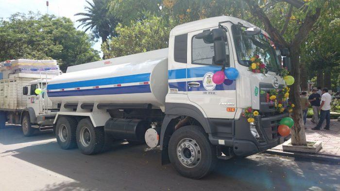Yunchará adquiere un camión cisterna para ayudar a 204 familias afectadas por las riadas