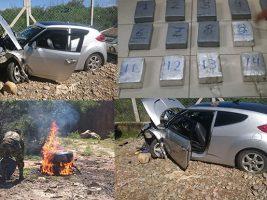 Cocaina hallada en un auto siniestrado en Tarija
