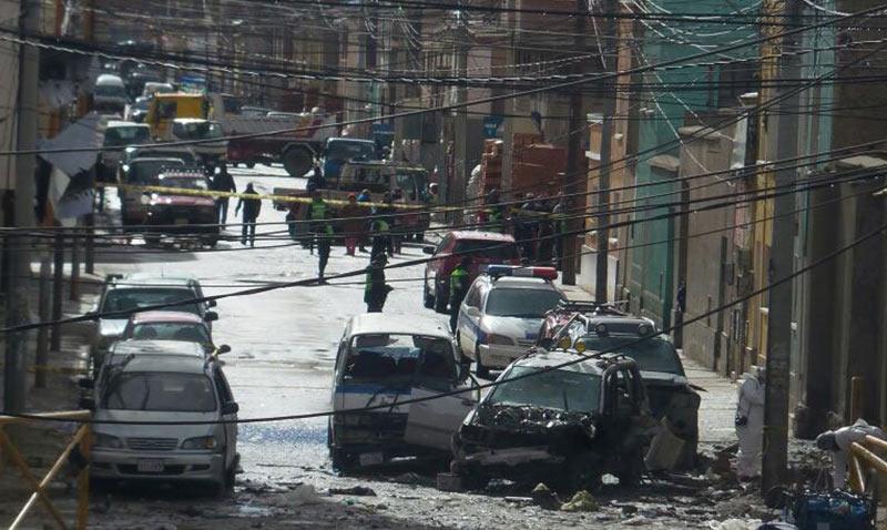La explosión de Oruro fue provocada con 3 kilos de dinamita
