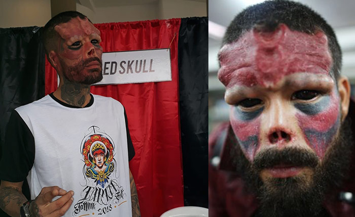 El Red Skull humano llega a Tarija y sorprende a los fans de Marvel