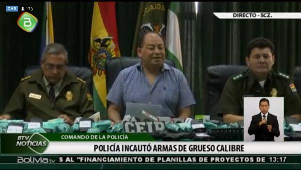 Policía desmantela banda criminal organizada desde la cárcel de Palmasola que traficaba armas