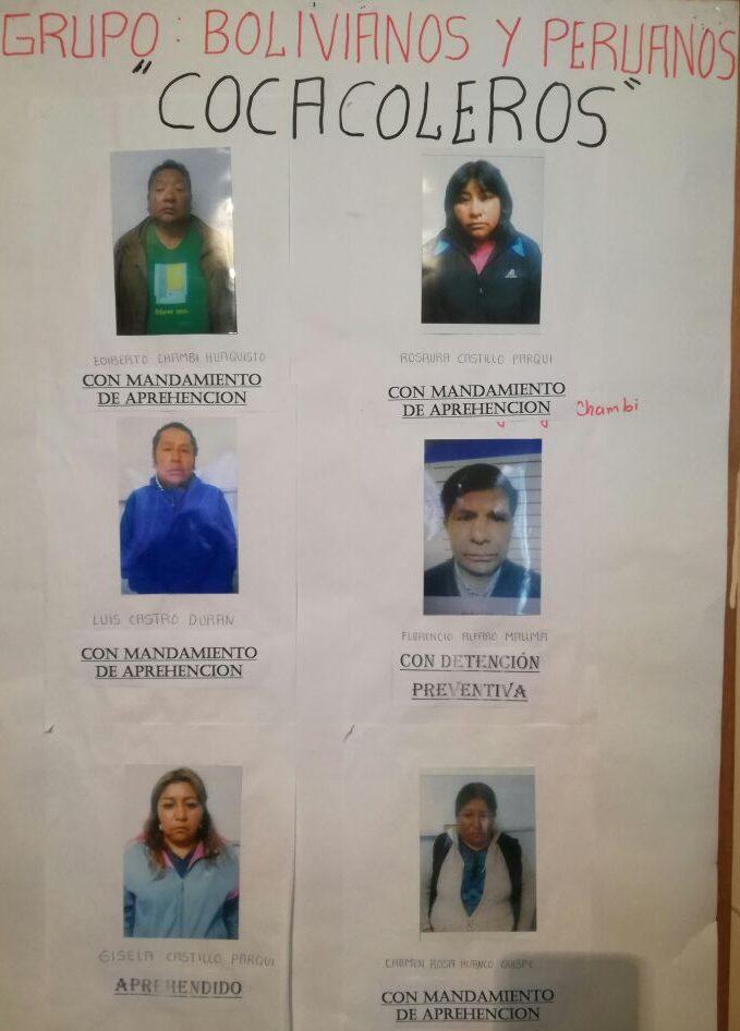 Buscan a 4 prófugos de banda criminal de los 'Cocacoleros'