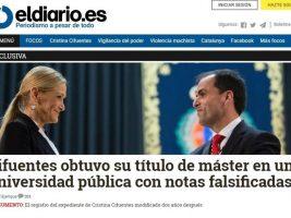 La presidenta de la Comunidad de Madrid, Cristina Cifuentes, del Partido Popular (PP)