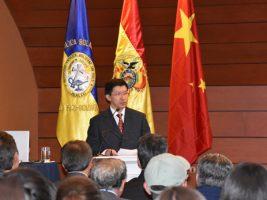 El embajador de China en Bolivia, Liang Yu