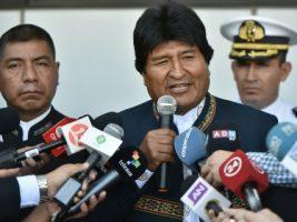 Conferencia de prensa en Chile