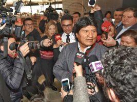 Prensa chilena buscó que Evo reaccione en una actitud de hostigamiento