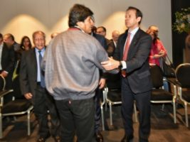 Presidente y expresidente de Bolivia