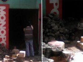 Una ferretería de La Paz sufrió un incendio