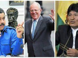 Presidentes de Venezuela, Peru y Bolivia