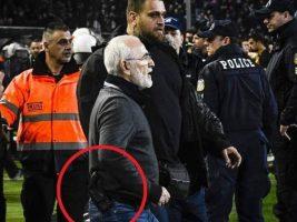 Presidente del PAOK griego entró a la cancha armado e insultó al árbitro