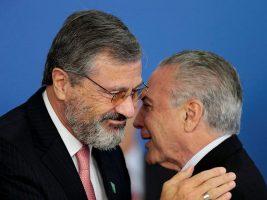 Ministro de Justicia y el presidente de Brasil