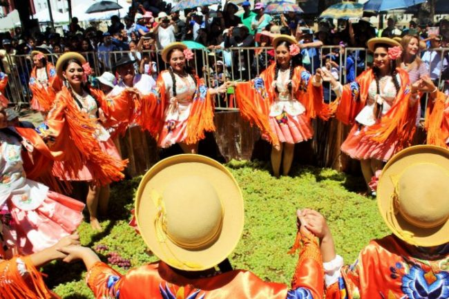 La tradicional pisa de uva pone fin a la Vendimia Chapaca 2018 en El Valle