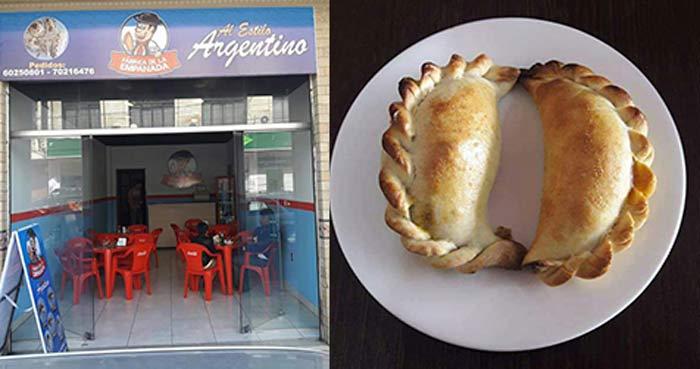 La Fábrica de la Empanada, variedad de empanadas al tradicional estilo argentino en Tarija