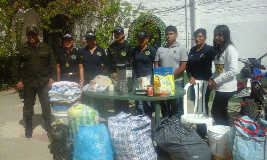 Recolectan víveres y ropa en Tarija para mujer víctima de género