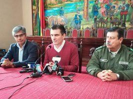 Rodrigo Paz Freddy Gordy y Viceministro Wilfredo Chavez