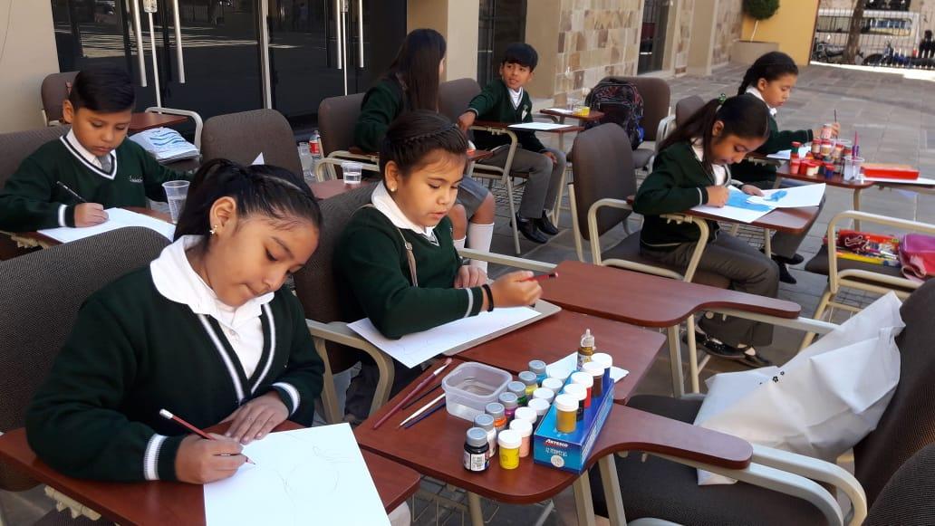 Los niños demuestran su civismo en el concurso de dibujo