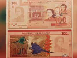 BCB lanza el nuevo billete de 100 bolivianos
