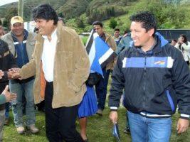 Alcalde de Colomi en la provincia Chapare y el presidente de Bolivia