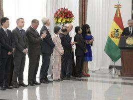 Ceremonia de Saludo Protocolar del Honorable Cuerpo Diplomático acreditado en Bolivia