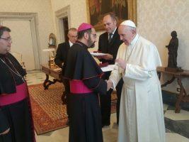 El papa Francisco recibió a los obispos chilenos