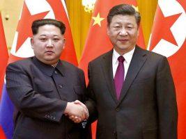Lideres de Corea del Norte y china